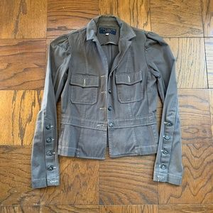 Juicy Couture Jean Denim Jacket Gray Size Small